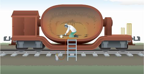 溶滓鍋・溶銑台車の補修